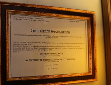 diploma avocat droit commercial